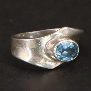 Jewelry - 925 Gorgeous Blue Topaz size Nine Designer Ring